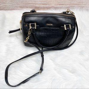 CALVIN KLEIN NWOT Black Leather Crossbody bag